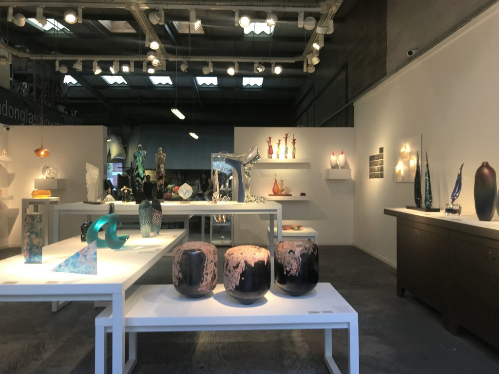 Image of London Glass Blowing gallery during a recent exhibition